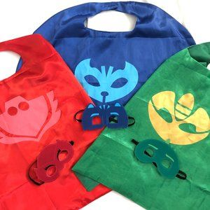 🍭PJ Masks Pretend Super Hero Capes/Masks